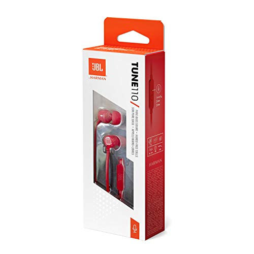 JBL Tune 110 in-Ear Headphones with Mic (Pink) Image 6