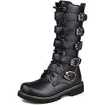 MERRYHE Cinturón De Hebilla para Hombre Martin Boot Side Zip Botas De  Combate De La Motocicleta 6038788dabd