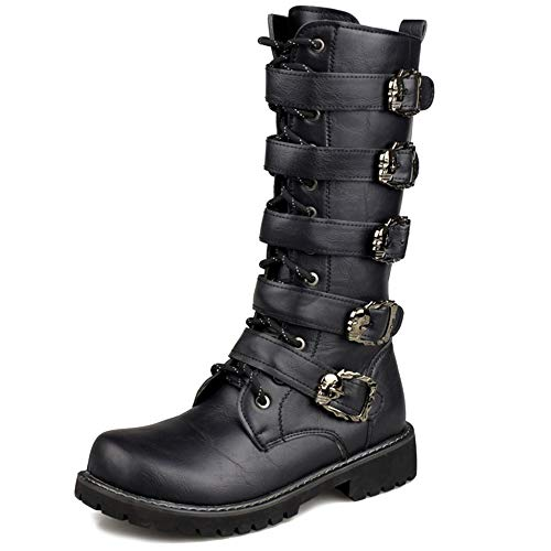 MERRYHE Cinturón De Hebilla para Hombre Martin Boot Side Zip...