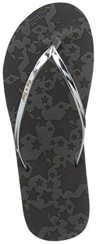 flip*flop Damen Noble Starlet Pantoletten, Grau (Steel 0170), 39 EU
