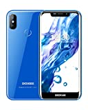 Dual Sim Smartphone ohne Vertrag Günstig, DOOGEE X70 Handy ohne Vertrag 4000mAh Akku 5.5 Zoll 19:9 Notch IPS Display, 8.1 Android Smartphone 2GB+16GB 8MP+5MP Dual Kameras Fingerabdruck Gesicht ID-Blau