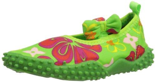 Playshoes Aquaschuhe, Badeschuhe Hawaii mit höchstem UV-Schutz nach Standard 801 174780, Mädchen Aqua Schuhe, Grün (original 900), EU 26/27