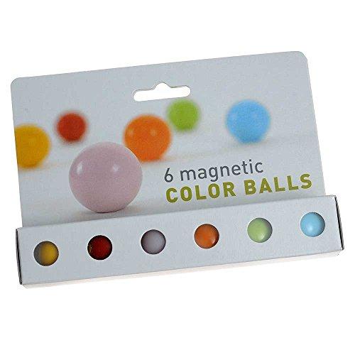 Hab & Gut -MC500- Imanes neodimio, Bolas de Muchos Colores, 6 Piezas, 24 mm, inconsútiles