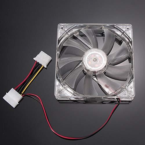 CAOQAO LED-Licht 12V 12cm / 120mm / 120x120x25mm Gehäuse PC Ersatz-Kühler Rdinateur/PC/CPU, PC-Gehäuse Ersatz Kühler oder von Pale Fan Fan-Chassis - Ersatz-schornstein