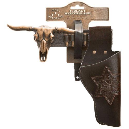 PARTY DISCOUNT Cowboygürtel Longhorn, 1 Tasche, antikbraun (Cow-boy-party-taschen)