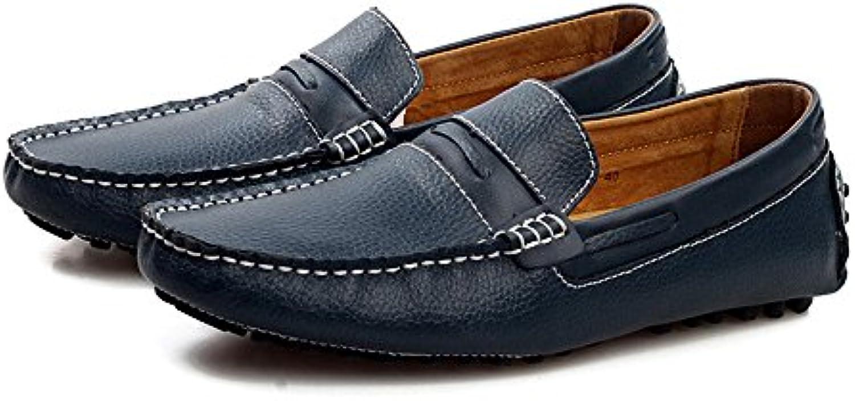 Xiazhi-scarpe, Mens Mocassini Guida Cucitura manuale Splice Vamp Penny Boat Mocassini Suole in gomma Suola, (Coloree... | Good Design  | Scolaro/Ragazze Scarpa