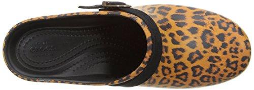 Crocs Sarah Graphic Clog, Zoccoli Donna Multicolore (Leopard)