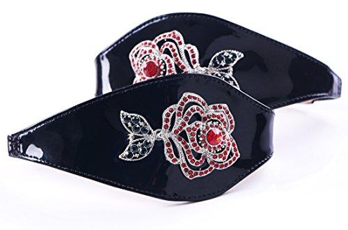 Shoes by Shaherazad  Time to Bloom, Escarpins pour femme Noir