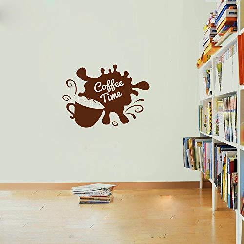 wandaufkleber 3d Wandtattoo Schlafzimmer Kaffeebohnen-Kaffee-Zeit-Zitate für Kaffeestube café Hauptdekor