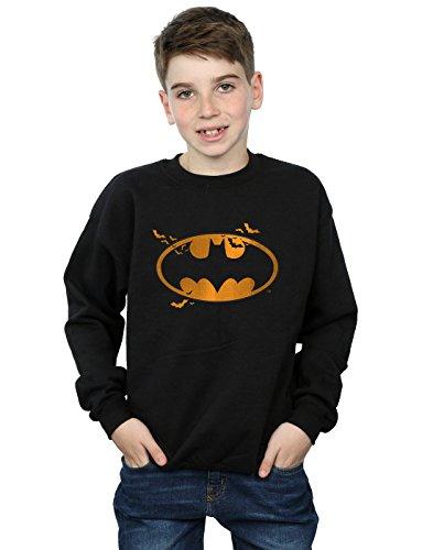 (DC Comics Jungen Batman Halloween Logo Sweatshirt 7-8 years Schwarz)