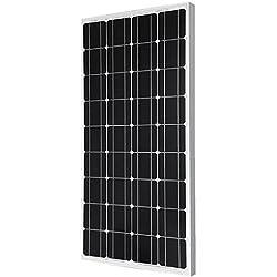 Giosolar 100W pannello solare 100W 12V pannello solare monocristallino 100W, 90mm di cavo con connettori MC4particolari, off Grid 12Volt 12V RV boat-giosolar