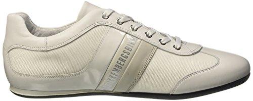 BIKKEMBERGS Herren Springer 012 L.Shoe M.Leather/Fabric Durchgängies Plateau Pumps Elfenbein (Bianco)