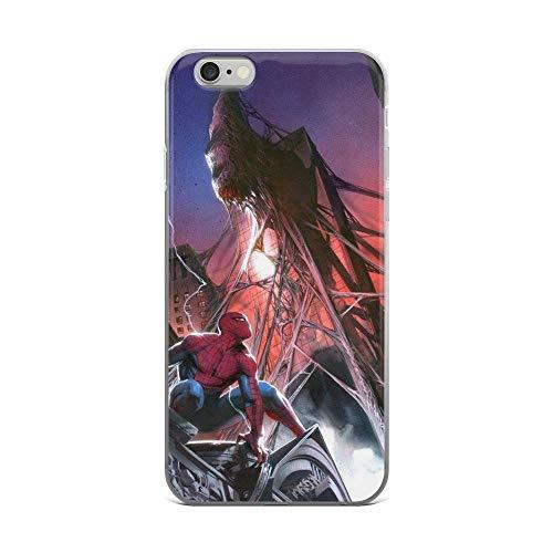 AresTitan Coque Transparente pour iPhone X/XS, XR, XS Max, 7/8, 7 Plus/8 Plus, 6/6s, 6 Plus/6S Plus Motif Spiderman vs Rhino Super Heroes Comics Spider-Man iPhone 6 Plus / 6s Plus Transparent