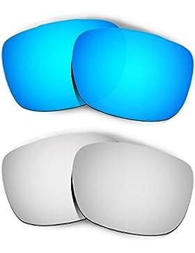 Hkuco Plus Mens Replacement Lenses For Oakley TwoFace Blue/Titanium Sunglasses