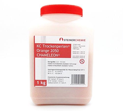 KC-Trockenperlen® Orange Chameleon®, Dose a 1 kg (regenerierbar)