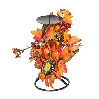 VOSAREA otoño Hojas de Arce Sol Flor y Bayas portavelas Centro de Mesa para otoño acción de Gracias Navidad