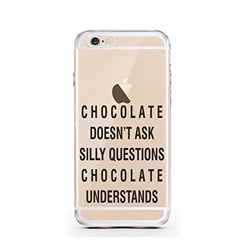 iPhone 6S Hülle von licaso® für das Apple iPhone 6 & 6S aus TPU Silikon Schwarze Punkte Black Dots Fashion Style Muster ultra-dünn schützt Dein iPhone & ist stylisch Schutzhülle Bumper Geschenk (iPhon Chcolate Understands
