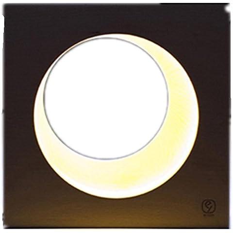 FWEF inesperado diseño Luna lámpara decorativa de madera noche lámpara lámpara de noche regalo creativo