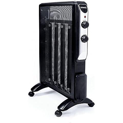 Duronic HV220 – Calefactor panel mica de 2.0KW radiante convector con termostato - Libre de aceite - Se calienta en 1 Minuto