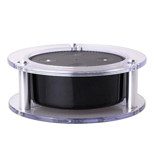 Healifity Soporte de Altavoz acrílico para la Segunda generación de Amazon Echo Dot (Blanco Transparente)