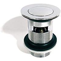 Xcel hometm calidad ranurada cromado Click Clack lavabo desagüe automático latón fregadero lavabo Plug–FBA