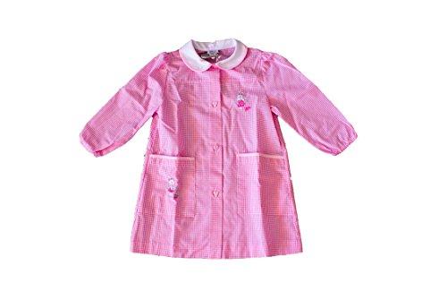 Grembiuli Asilo A Quadretti.Chicco 93244 Grembiule Asilo Bambina Bianco Rosa A