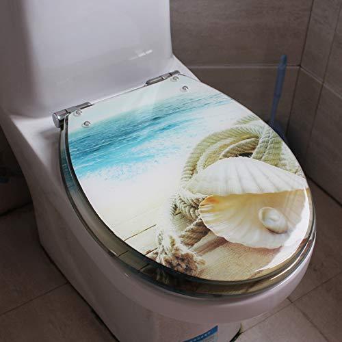 Sièges De Toilette, Siège Toilette Siège De Toilette Revêtu De Résine Antibactérienne en Polyester, Type U-V, Universel,K
