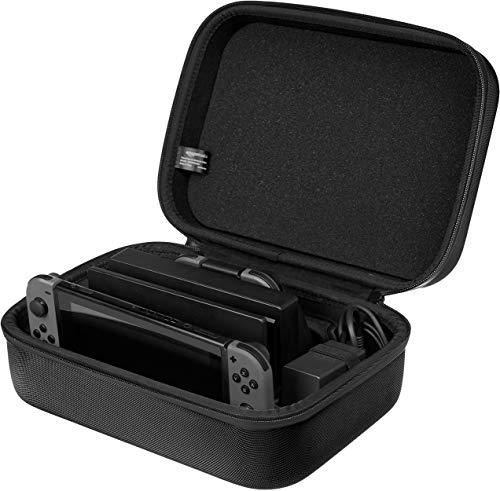 AmazonBasics - Reise- und Aufbewahrungsbox für die Nintendo Switch, Schwarz -