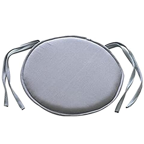 SIMPVALE Lot de 4 Coussins Rond pour Chaises Fauteuils Galettes de Chaises diamètre 27cm (gris)