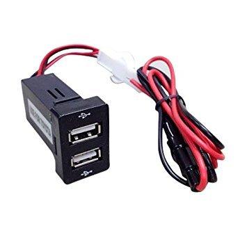 TOOGOO(R) Cargador rapido de Dos puertos USB de montaje de Tablero 1.2A...