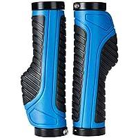 GDSZHS Puños para manillar de bicicleta diseño ergonómico caucho bici de montaña MTB o BMX, Azul