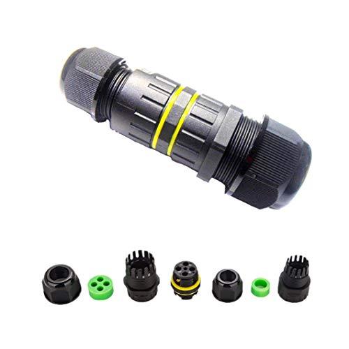 Außenbereich, wasserdicht, IP68, 4-Wege-Leitung, M25-Kabel-Anschluss, Drahtbereich 4-8 mm, 8-12 mm, 10-14 mm Netzkabel Externe Hülsen-Koppler Schutzbox ()