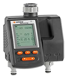 GARDENA Irrigation Computer MultiControl duo: automatic irrigation control, weekdays programmable, up to 3 irrigation per day, with LC display (1874-20)