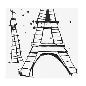 Madame Eiffel Stickers représentant la Tour Eiffel Noir - Alinea 48.0x