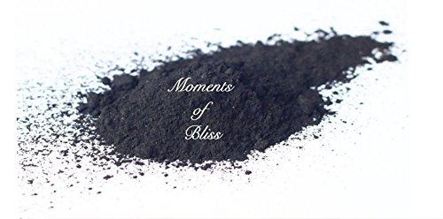 Moments of Bliss Cosmetics Polvo de carbón Activado – 25 – 100 g máscara Facial, Tratamiento de Manchas, jabones, etc. – Vendedor del Reino Unido, 50grams
