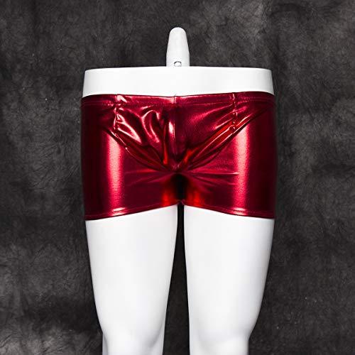 KEDCD Handschellen Sexspielzeug Sex Toys Hot Gold Lackleder Hose Herren Sexy Unterwäsche Kostüme Lederhose, ()
