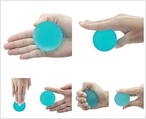 CC * CD Therapie Übung Soft Gel Kugeln Hand Finger Handgelenk Arthritis (zufällige Farbe)