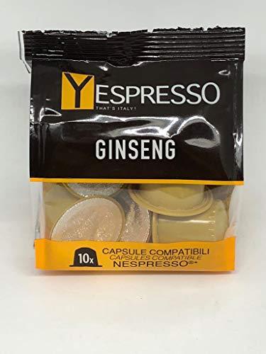 Yespresso capsule nespresso compatibili caffè ginseng - confezione da 60 pezzi