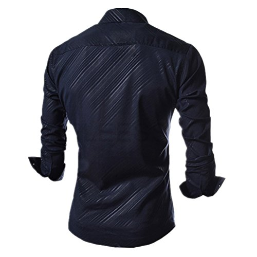 ShiYuan - Chemise habillée - Trapèze - Homme Bleu Marine