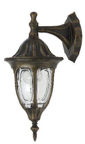 Laterne Wand Leuchte AUSSEN Ø165mm/ Antik/ Golden/ Bronze/ Lampe -