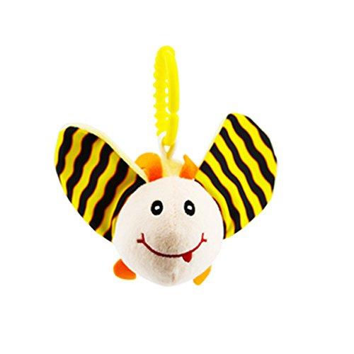Kinderwagen Spielzeug, Isuper Kleinkind Autositz Anhänger Puzzle Spielzeug für Babys und Kleinkinder Plüschtier Spielzeug (Biene)