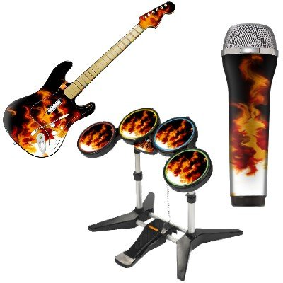 Rock Band Skin Kit für Gitarre,Drums & Mikrofon - Inferno [PS3, Xbox360]