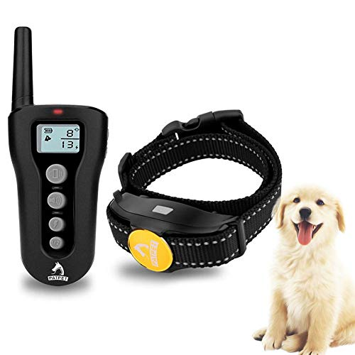 iBasteFR Handheld Dog Repellent Ultrasonic Infrared Deterrent Bark Stopperb Good Behavior Training Device 300 Meters Pet Stopper White Backlight Remote Control for Meters Long Distance Trainer Collar