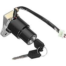 Ocamo Ensamblaje de la Cerradura del Interruptor de Encendido de la Motocicleta 3-Pin w