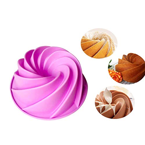 Kuchenform Bakeware Form Essen Kuchen Pan Swirl Form Silikon Kuchen Form Küche Backen Werkzeuge für Kuchen Bundt Form Pan