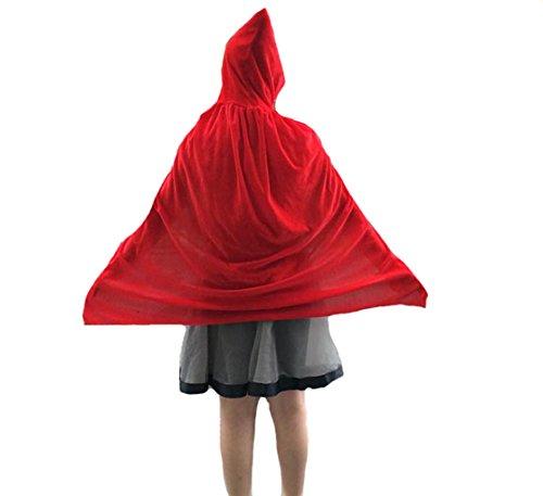 Kinder Halloween Kostüm Halloween Umhang Mit Kapuze Lange Samt Bekleidung Fasching Karneval Kostüm Cosplay Requisiten Set für Mädchen (Erwachsene Reaper Braut Kostüme)