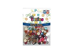 Diakakis 000646071 - Piedras de imitación Redondas (8 mm, 120 Unidades), Multicolor