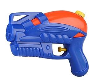 Pistola de Agua Idena 40323 de plástico, tamaño Compacto Vacaciones, en la Playa o Piscina, Aprox. 18 cm, Azul