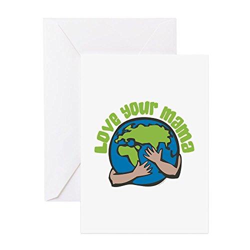 X-large Planeten Erde (CafePress–Love Your Mama–Grußkarte, Note Karte, Geburtstagskarte, innen blanko, glänzend)