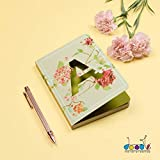 Doodle Initial A lasercut Notebook, B6 (6.69 X 4.72 X 0.5 Inches), 200 Pages, 80 GSM, Diary for Girls